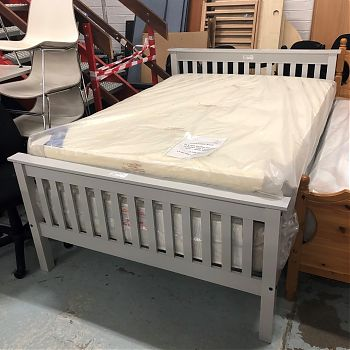 BRAND NEW STOCK - 4ft 6 Monaco Grey Bed Frame