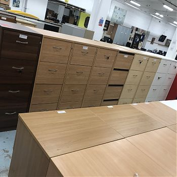 Second hand wooden filing cabinets