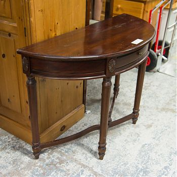 Image Mahogany half-moon hall table €150