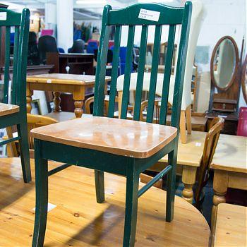 Green kitchen chair