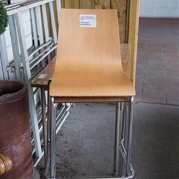 High beech stacking chair