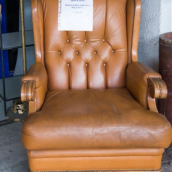 Image Brown leather club chair €125