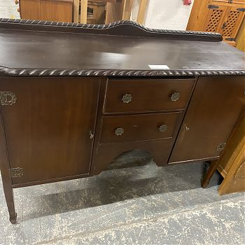 MAHOGANY ROPE EFFECT SIDEBOARD
