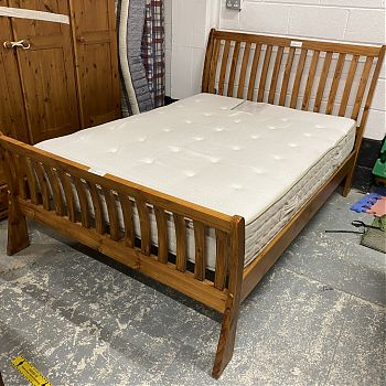 SOLID PINE DOUBLE BED FRAME (EXCL MATTRESS)