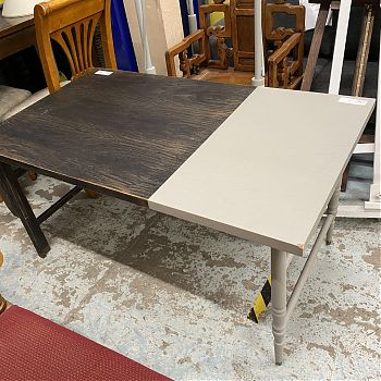 RECTANGULAR TWO TONE TABLE