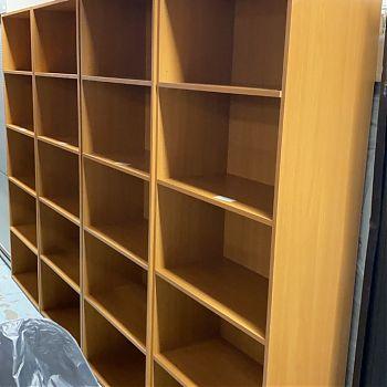 Dark Beech Tall Open Bookcases