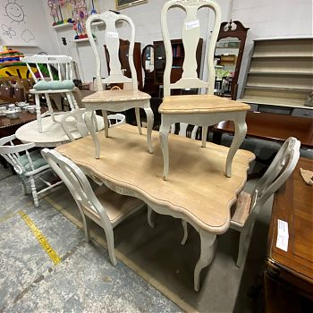 # 27092 - FRENCH STYLE DINING TABLE SET